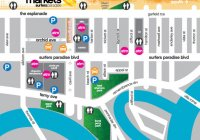 Surfers Paradise Beachfont Markets Map
